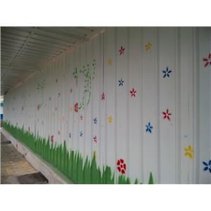 圍籬噴漆-花草美化