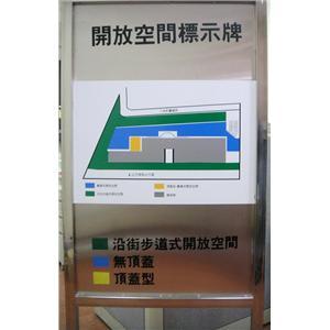 開放空間標示牌