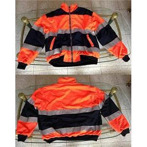 冬季外套(螢光橘/深藍)