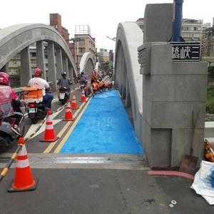 道路舖設冷塑型彩色止滑道路塗料工程-鈺晟科技有限公司