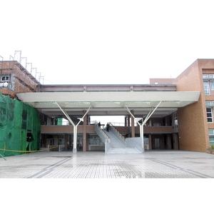 桃市快樂國-小鋼構玻璃採光罩包板-慶昌企業社
