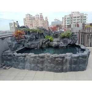 FRP假山水池-綠大山水造景景觀企業社