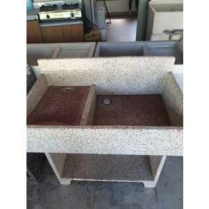 抿石子洗衣台(米色)