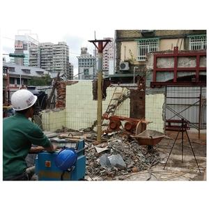 古蹟三井倉庫鏈鋸切割-榕建工程股份有限公司