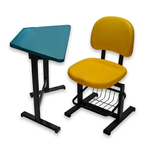 學生梯形課桌椅(固定式桌腳)