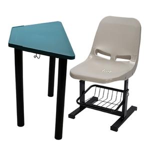 學生梯形課桌椅(圓管桌腳)