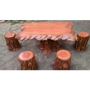 仿木桌椅-鴻山園藝有限公司