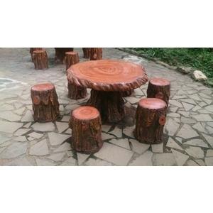 仿木桌椅3-鴻山園藝有限公司