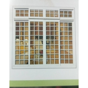 防盜格子落地窗-現代鋼鋁門窗有限公司