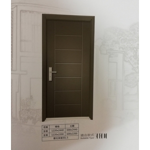 壓花烤漆鋼板門