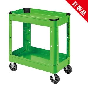 全方位二層工具車 (綠色+黑襯套)