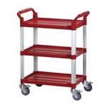 三層工作推車-紅色標準型