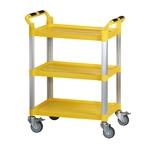 三層工作推車-黃色標準型