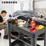 全方位二層工具車 (黑色標準型+藍襯套)