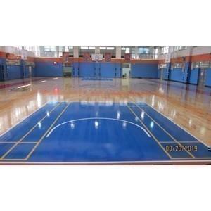活動中心球場地坪整修工程-東龍地板有限公司