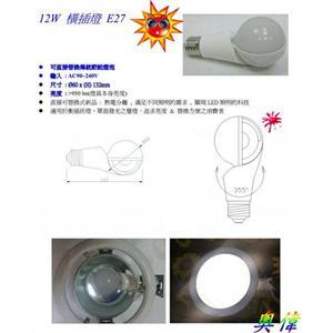 12W LED 橫插