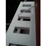 造型包板雨庇-上騰金屬有限公司-鋁格柵,鋁包板,玻璃欄杆,樓梯扶手,金屬帷幕牆,不銹鋼大廳門