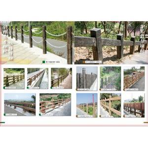 仿櫻花木欄杆、防撞護欄及各式訂製欄杆-永長企業有限公司-台中