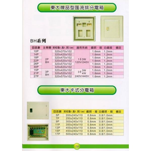14 東大牌品型匯流排分電箱&東大卡式分電箱