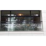 烤漆鋼管玻璃欄杆