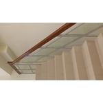 樓梯玻璃木扶手