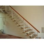 鋼梯+木扶手