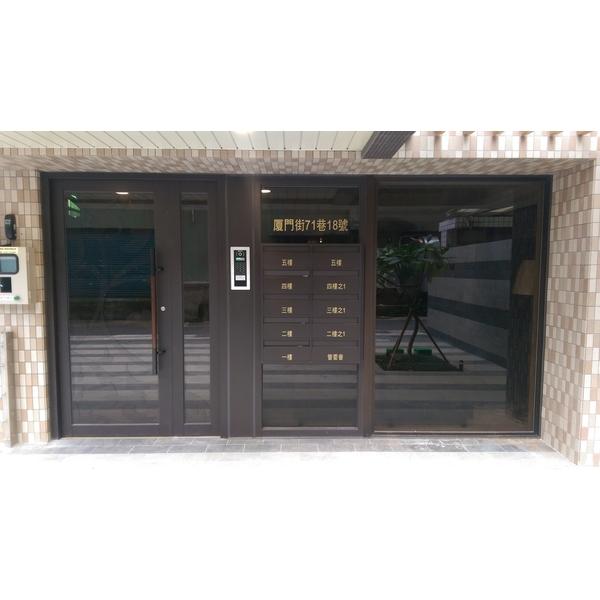 不銹鋼烤漆大門+信箱-紫福金屬建材有限公司-新北