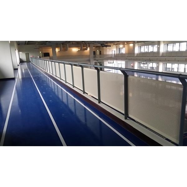 氟碳烤漆沖孔板欄杆-紫福金屬建材有限公司-新北