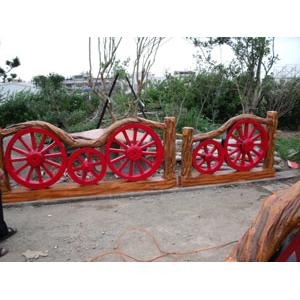 仿木牛車輪欄杆