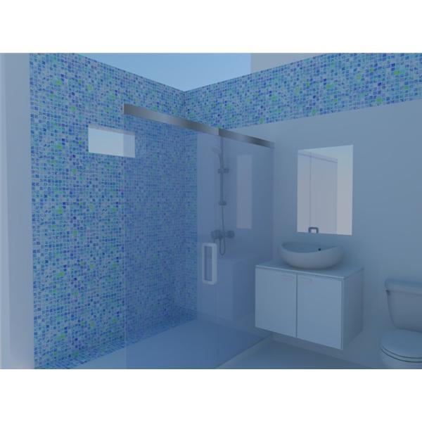 王醫師馬賽克設計衛浴3D