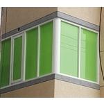 綠色隔熱板陽台窗