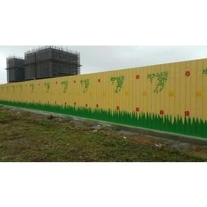 8尺圍籬+單側防溢座20cm