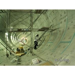 圓型水膨脹橡膠止水條安裝、接縫Bostik 2637 PU填縫膠填縫