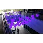 台中軟體園區室內外環控電視牆、運動燈球