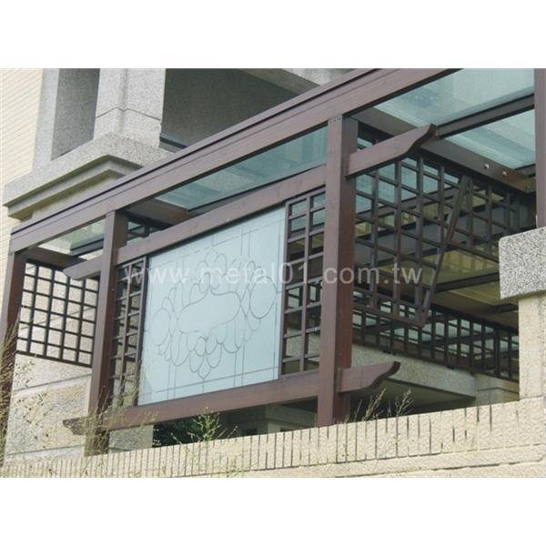 鋁製採光罩+造型花架-綠眾事業股份有限公司-台中