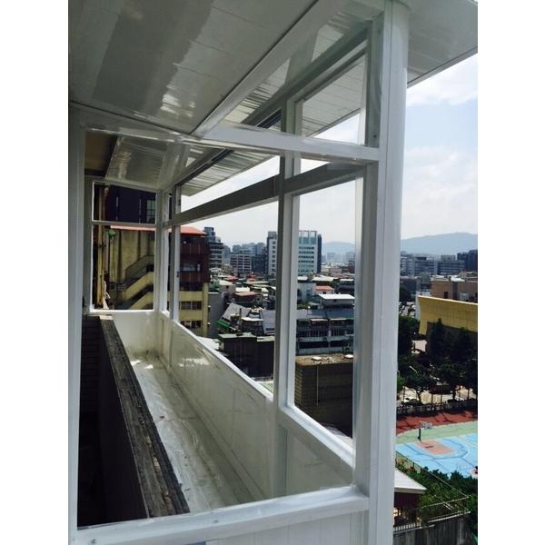 後陽台景觀凸窗+置物箱-鑫輝鋁業有限公司-新北