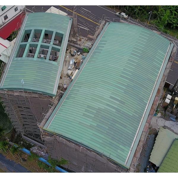 屏東創價學會會館屋面銅綠板