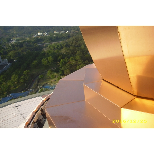 天恩彌勒佛院屋頂銅板工程