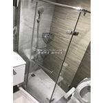強化玻璃 L型 淋浴間 乾濕分離 一字型淋浴間 浴室玻璃 玻璃門 五角形淋浴間