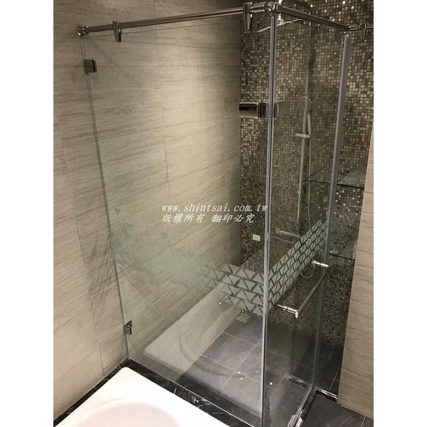 強化玻璃  L型 淋浴間 乾濕分離 一字型淋浴間 浴室玻璃 玻璃門