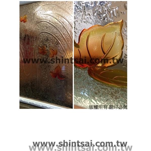 藝術玻璃 玻璃維修 彩繪玻璃 屏風玻璃 窯燒玻璃 毛玻璃-昕采玻璃有限公司-新北