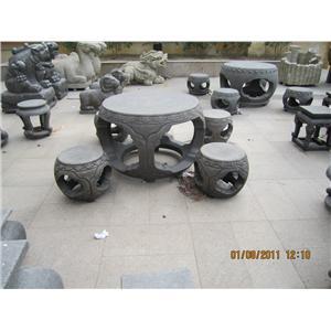 石桌椅-威霖石雕工程有限公司-彰化