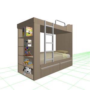 小孩房 書櫃床鋪-蓉靚室內裝修設計工程有限公司-基隆