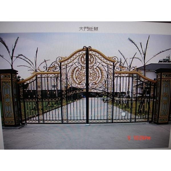 藝術鍛造大門-永新鍛造鋁門窗行-台南