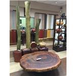 檜木聚寶盆.樟木榴桌.紅檀椅.綠檀展示