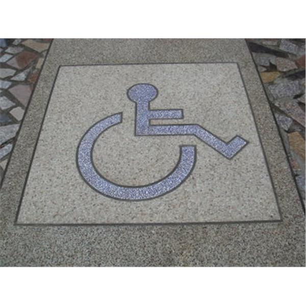 殘障標示抿石-螢德工程行-新北