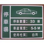 停車場告示牌