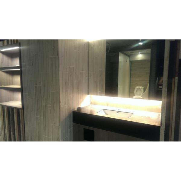 【新永興磁磚】浴室設計木紋磚