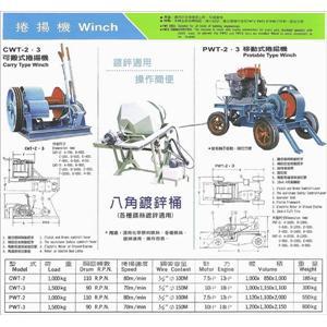 可搬式捲揚機/八角鍍鋅桶/移動式捲揚機-協和鐵工廠-嘉義
