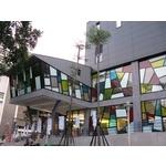 台北松山體育中心 - 美國首諾Saflex Vanceva 多彩膠合玻璃建案